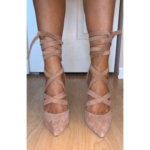 Aldo wrap-up pointed toe heels